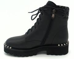 Ботинки зима натуральная кожа,черного цвета.