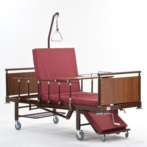 Кровать кресло для лежачих больных с туалетом и электроприводом КМФ-942 ЭЛЕКТРО - фото