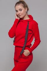 Спортивный костюм женский красный с капюшоном интернет магазин