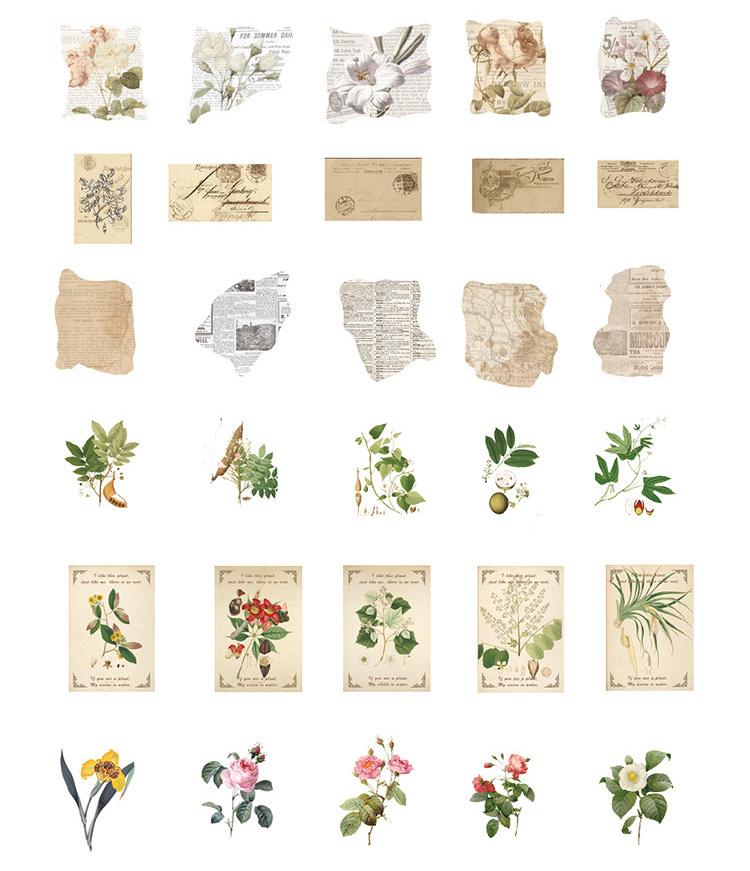 Стикер Письма и цветы