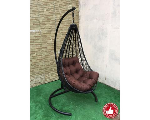Подвесное кресло Принцесса черное