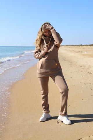 Костюм спортивный песочный с капюшоном