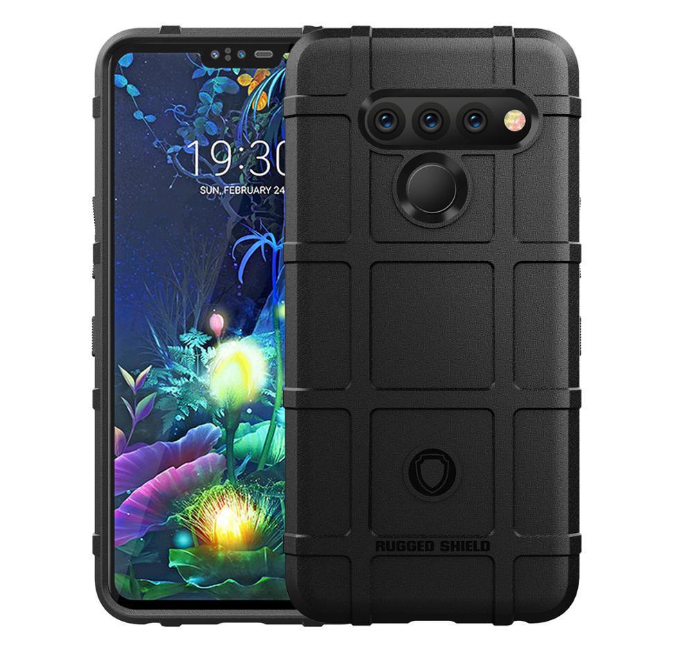 Чехол LG V50 ThinQ цвет Black (черный), серия Armor, Caseport