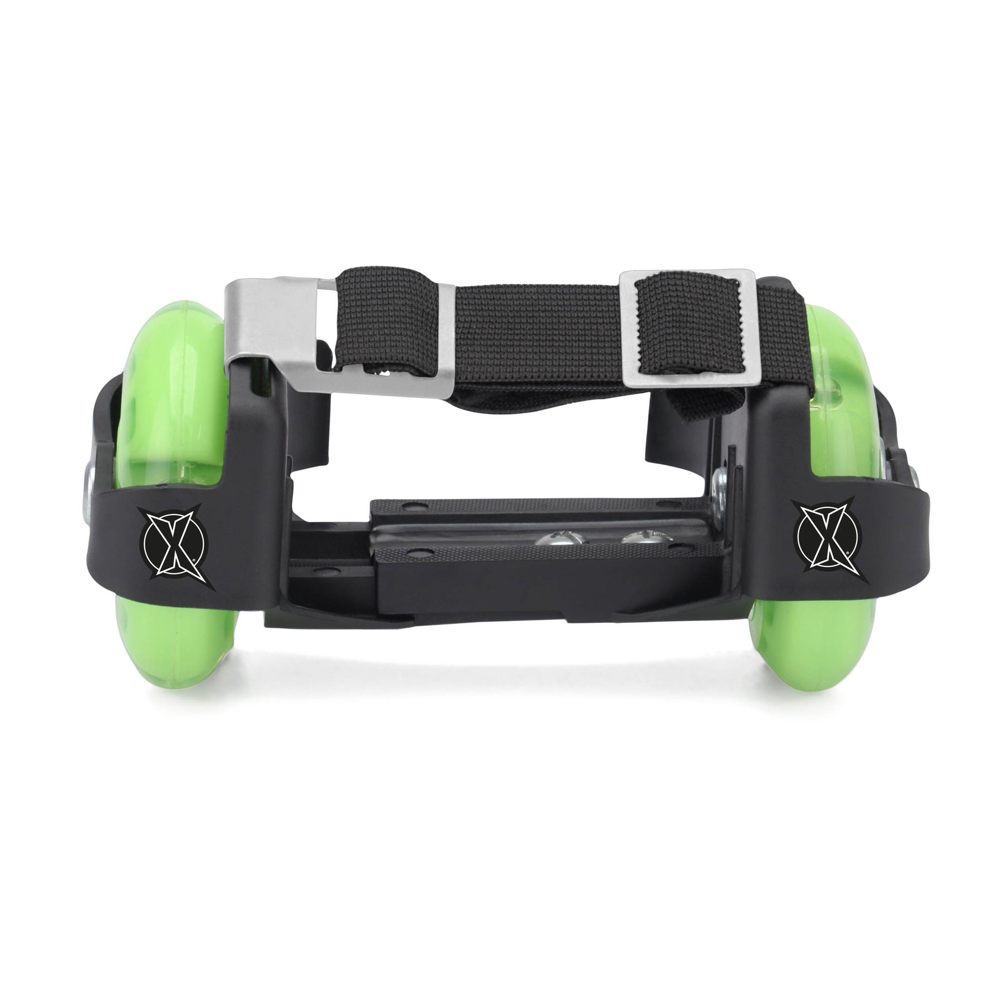 Колеса Xootz на ботинки. Зеленые (светящиеся)