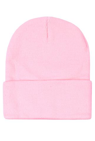 Шапка розовая фото