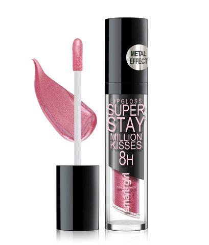 Супер стойкий блеск для губ Smart girl Million kisses тон 214 с металлическим эффектом