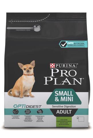 Сухой корм Purina Pro Plan для взрослых собак мелких и карликовых пород с чувствительным пищеварением, ягнёнок с рисом
