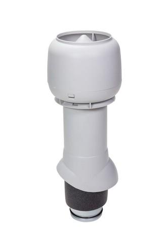 Вентиляционный выход 125 из 500 Vilpe светло-серый