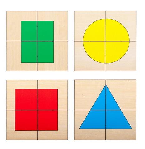 Разрезные картинки Круг Квадрат Треугольник