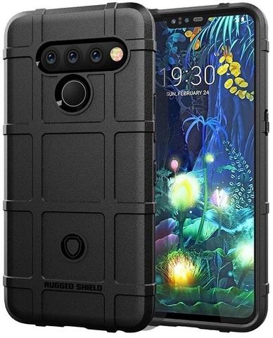 Чехол для LG V50 ThinQ цвет Black (черный), серия Armor от Caseport