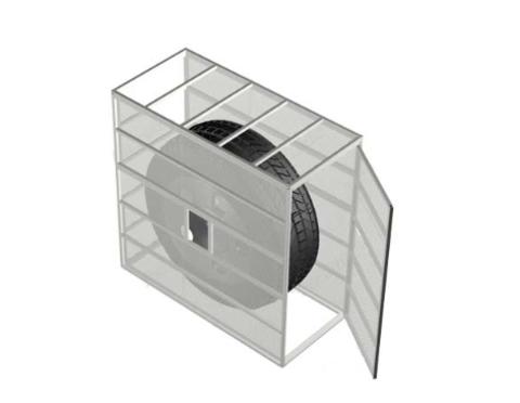 Клеть для накачки колес, шиномонтаж, автосервисное оборудование,06.304-7035, Ferrum