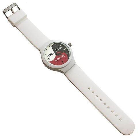 Часы наручные Инь Янь Хрень белые