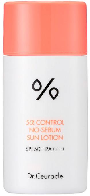 Dr.Ceuracle 5α Control No-Sebum Sun Lotion солнцезащитный крем SPF50+ PA++++ 50мл