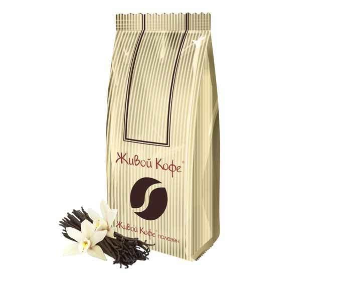 Кофе в зернах ароматизированный Живой Кофе Французская ваниль, 1 кг