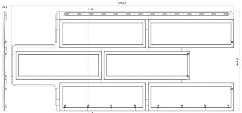 Фасадная панель Альта Профиль Камень венецианский Слоновая кость 1250х450 мм
