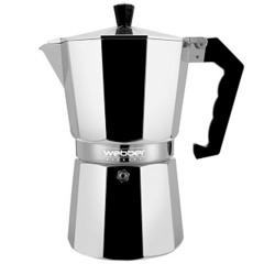 Гейзерная кофеварка 300 мл на 6 чашек алюминиевая WEBBER BE-0122