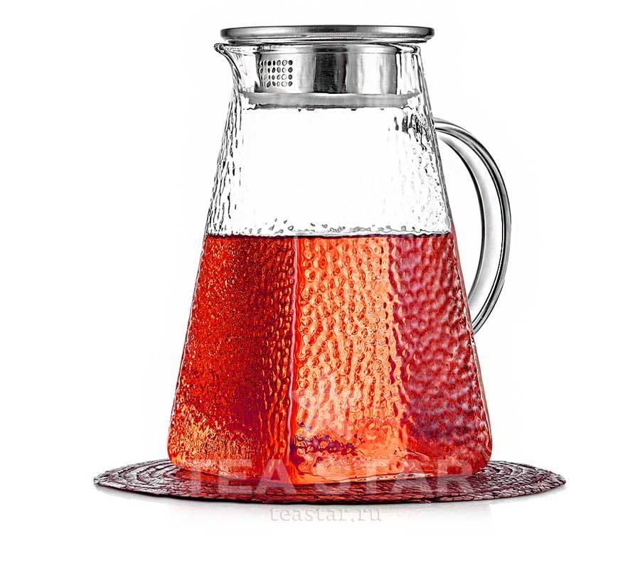 Чайники заварочные стеклянные Заварочный чайник-кувшин квадратный, стеклянный, 1200 мл chaynik_zavarochniy_kvadratniy_kuvshin_1200ml.jpg