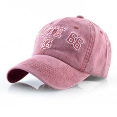 Route 66 бейсболка из денима (Джинсовая кепка Рут 66) розовая