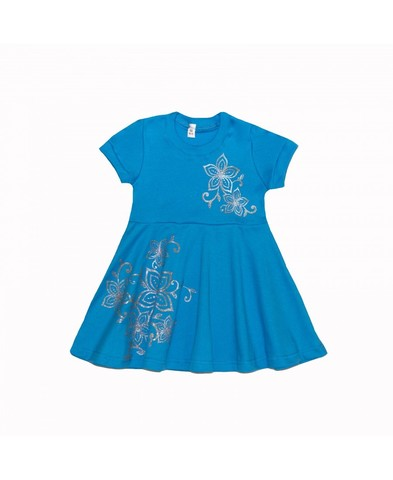 Платье Голубое детское трикотажное