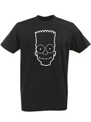 Футболка с однотонным принтом Симпсоны, Барт Симпсон (The Simpsons) черная 001