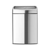 Прямоугольный мусорный бак Touch Bin (10 л, артикул 477225, производитель - Brabantia