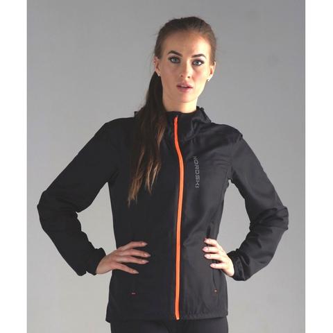 Ветровка для бега Nordski Run Black/Orange W женская