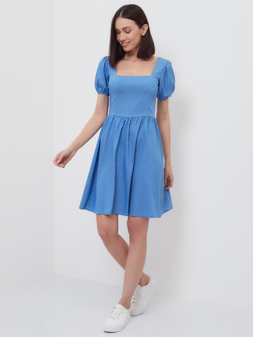 BM Платье Каре Голубой