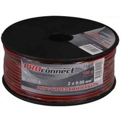 Кабель Акустический 2х0,35 черно-красный ProConnect