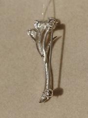 Брошь-букет из серебра с фианитами