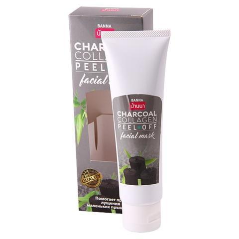 Маска-пленка с коллагеном и бамбуковым углем Banna Charcoal Collagen Peel off Facial Mask