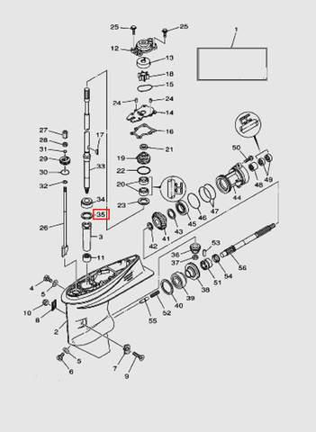 Шайба регулировочная SHIM (T: 0.10mm)  для лодочного мотора T40 Sea-PRO (23-35)