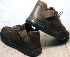 Модные мужские туфли под джинсы на осень Luciano Bellini 71748 Brown