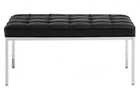 Скамья Florence Style Bench черная кожа - вид 2
