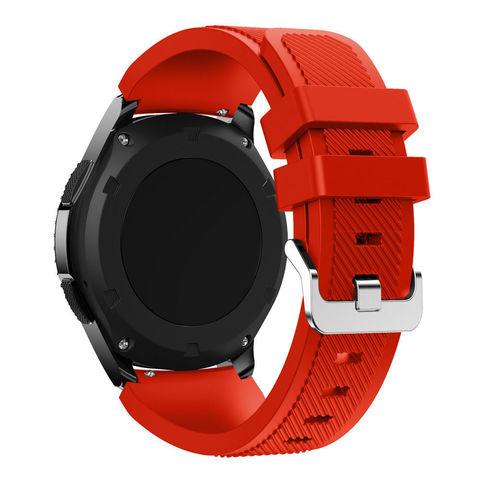 Силиконовый ремешок для Samsung Gear S3/Galaxy Watch 46 Fohuas Silicon Band 22мм (красный)