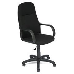 Кресло для руководителя Leader черное (ткань/пластик)