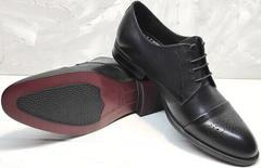 Сильные мужские туфли классические Ikoc 2249-1 Black Leather.
