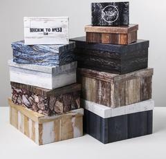 Набор подарочных коробок 10 в 1 «Текстурный», 12 × 7 × 4 - 32.5 × 20 × 12.5 см