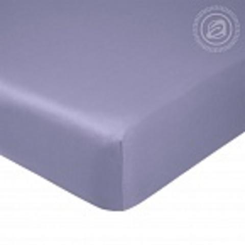 Простыня на резинке  Сатин  Фиолетовый