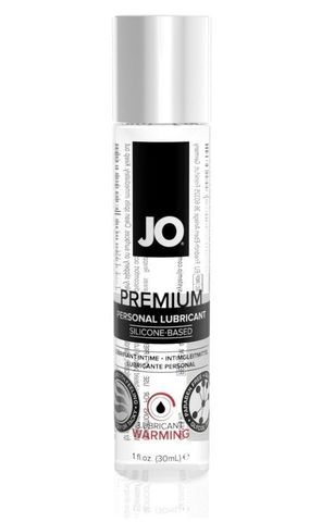 Классический возбуждающий лубрикант на силиконовой основе JO Premium Warming, 1 oz (30мл.)