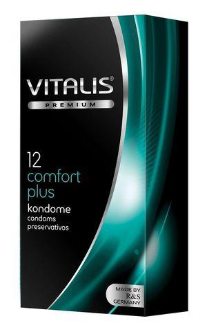 Контурные презервативы VITALIS PREMIUM comfort plus - 12 шт.