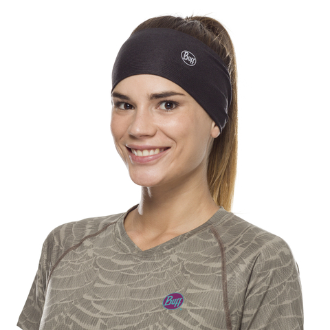 Повязка-чалма летняя Buff Headband Tapered CoolNet Solid Black фото 2