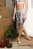 Long warming sauna-shorts, stained in print | delicate_dirt