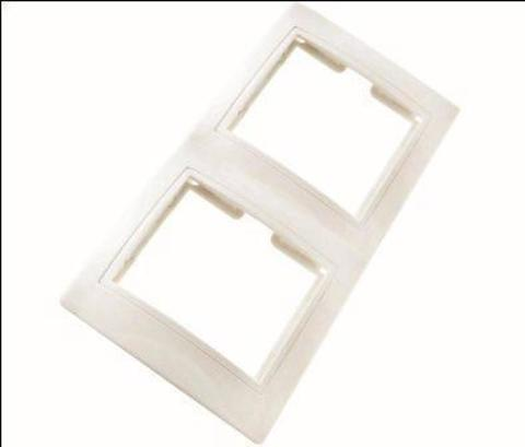 Рамка 2 мест.вертикальная Таймыр белая