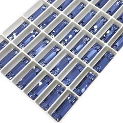 Стразы пришивные форма Cosmic Baguette, цвет Denim Blue светло-синие