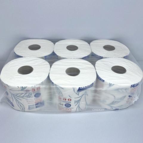 Туалетная бумага Papero Джамбо 2сл. 50 м белая (TP035)