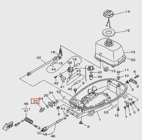Ручка топливного крана для лодочного мотора T5 Sea-PRO (7-23)