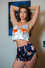 Шелковая пижама лиса