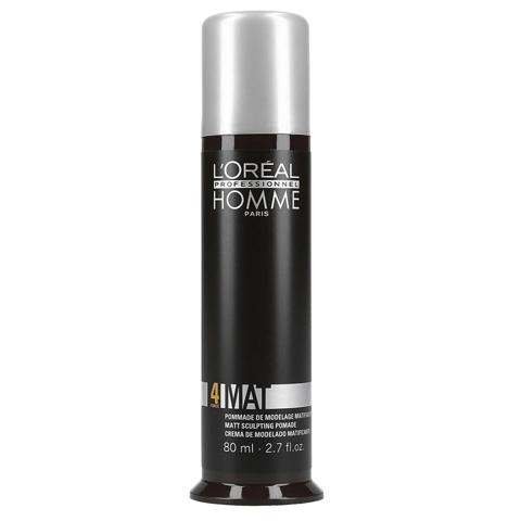 L'Oreal Professionnel Homme: Матирующая крем-паста для гибкой, эластичной фиксации мужских волос (Mat), 80мл