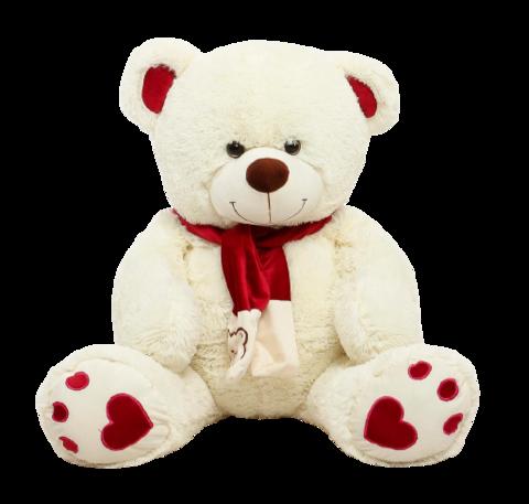 Игрушка Плюшевый медведь Кельвин (250 см). Молочный