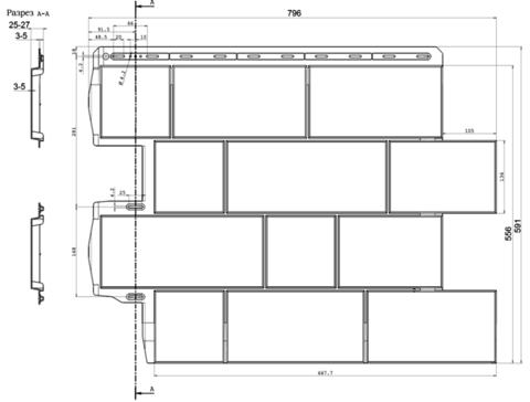 Фасадная панель Альта Профиль Туф Итальянский 796х591 мм